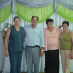 Pe. Miguel Dametto com suas irmãs Lourdes Maria, Verônica e Josefina Dametto.