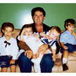 Miguel Dametto e sobrinhos ainda pequenos em Mato Grosso do Sul.