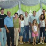 Familiares de Henos Cegolini e Josefina Dametto com Pe. Miguel Dametto (e outros).