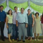 Davi de Oliveira Dametto, casal Rudinei Batista da Silva e Donalize de Mattos, Pe. Miguel e Lourdes Maria Dametto, Célia Maria de Oliveira e Kátia de Oliveira Dametto.