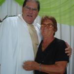 Pe. Miguel Carlos Dametto e Amália Salton Dametto, antiga professora do grupo escolar da Linha Quarta, Anta Gorda - RS.