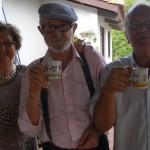 Irmãos Nair, Ivo e José Bruno Chies, no sítio Águas Claras, em Monte Bonito, Pelotas – RS.