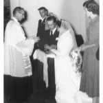 Casamento de Nilda Dametto e Armando Carissimi no dia 22/01/1958.