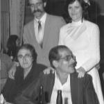 Nilda Dametto e Armando Carissimi com Ione Maria Dametto e Gilberto Brunello, casamento no dia 28/07/1984.