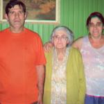 Celso Antonio Carissimi, Nilda Dametto e Rejane Carissimi.