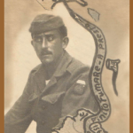 Olívio Steffani, último filho de Magdalena Dametto Steffani. Pracinha da FEB, esteve na Itália na II Guerra Mundial.