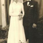 Olga Dametto (*17/09/1932) e Angelo Canal (*03/07/1932), casamento em 23/10/1954.
