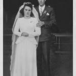 Onorina Nardi Dametto e Oreste Pedro Dametto. Casamento no dia 05/10/1949.