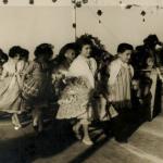 Maria Regina (5 anos) e José Antonio (4 anos), grupo tradicionalista do Colégio Santa Dorotea, festa junina em 1959.