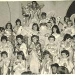 Maria Regina Dametto: grupo de anjinhos na festa de Nossa Senhora, igreja Cristo Redentor, 1959.