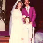 Nair Favretto e Sadi Divino Dametto, casamento no dia 24/09/1977.