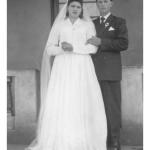 Cesira Mayer e Selvino José Dametto, casamento no dia 05/11/1958.