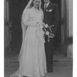 Maria Hermínia Teló e Severino Dametto, casamento no dia 27/05/1954.