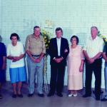 Irmãs e irmãos Dametto no dia 09/02/1997 – Bodas de Ouro de Antonio e Amélia Dametto: Orélia, Rosa, Oreste, Antonio, Amélia, Fidélis e João.