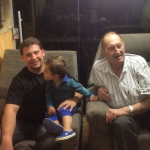 Três gerações: Rodrigo, Leonardo e José Dametto.