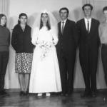 Casamento de Vilma Dametto e Dirceu Ignacio no dia 29/05/1971. Irmãs: Nilce, Nelci, Nair Lourdes e Vilma; irmãos: Dorvalino José, Sadi Divino, Celso Ari e Wilson Dametto.