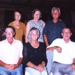 Filhos de Vitorio Dametto e Catharina Zanatta: Sentados: Luiz, Leonilda, Alcides. Em pé: Alvina, Osana, Laurindo.