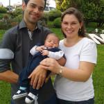 Lúcio Alves e Elisabete Dametto com o filho Bernardo Dametto Alves, nascido no dia 14/03/2016.
