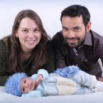 Elisabete Dametto e Lúcio Alves com o filho Bernardo Dametto Alves, nascido no dia 14/03/2016.