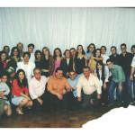 Família reunida de Fermina Zanatta e Artemio Domenico Mazaro. Comemoração dos 80 anos de Fermina.