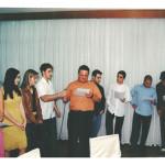 Comemoração dos 80 anos de Fermina Zanatta Mazaro. Elisa (neta) Rossana (neta), Ana Carolina (neta), Diego (neto), Mark (neto),Thiago (neto), Vicente (neto), Franco (neto) e Aaron (bisneto).