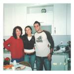 Maria de Lurdes Mazaro Moser com a filha Elisa e o genro Daniel.