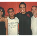 Família de Vicente Mazaro (filho de Fermina Zanatta): Rosane, Franco, Vicente filho, Vicente pai.